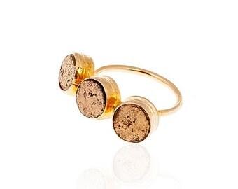 Golden DotsPyrite Ring