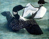 Tim Campbell's Loons Painting Giclee Print
