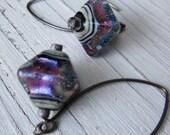 Shimmering Amethyst Murano Glass Earrings, Handmade Boho Chic Jewelry by SusanHeleneDesigns