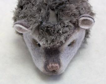 Gray Cloud Hedgehog - Wool plush