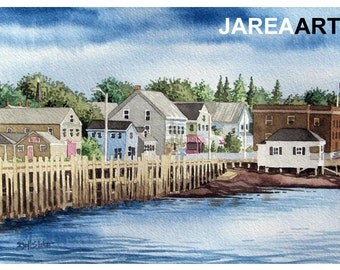 St. Andrews Wharf, St. Andrews, New Brunswick, Canada Reproduction Print