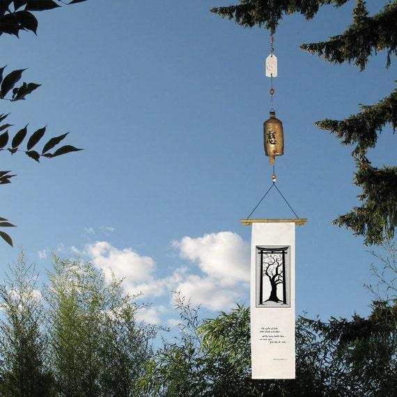 Zen Bell  with Silk banner