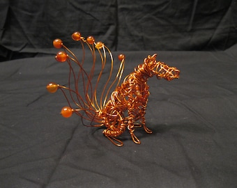 Nine-tailed Fox Copper Wire Sculpture