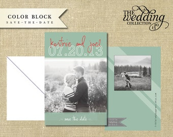 Lined Save-The-Date Printable or Printed Card