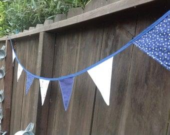 Blue Retro Cowboy Pennant Banner