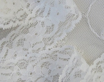 2 yds Ivory Stretch Lace Lingerie Headband Camisole Clothing Altered Couture Designs