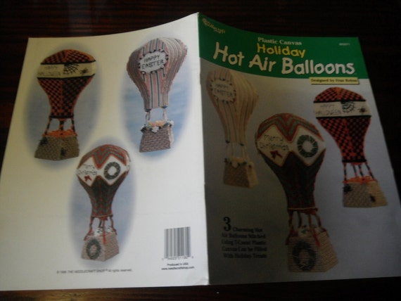 Plastic Canvas Patterns Holiday Hot Air Balloons Needlecraft Shop 993071 Plastic Canvas Pattern Leaflet