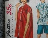 LOT of 3 Vintage 50s sleepwear lingerie pajamas nightgown Patterns 13 14 31 32 bust