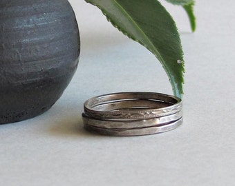 Sterling Silver Stacking Rings - Stack Rings - Christmas Gift for Her