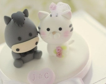 Koala and Donkey Wedding Cake Topper---k769