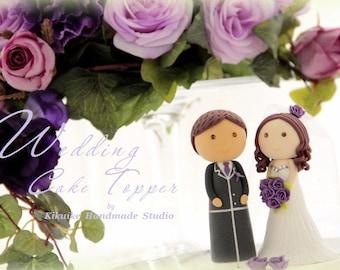 love bride and groom wedding cake topper (K208)
