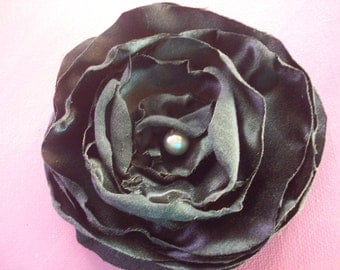 Fabric Flower,Handmade Fabric Flower, Pearl Center DIY Headband, Hair Clip, Bobby Pin, Broach