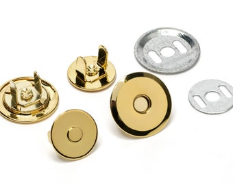 10pcs UFO Magnetic Purse Snaps 18mm - Gold - (MAGNET SNAP Mag-176) - Free Shipping