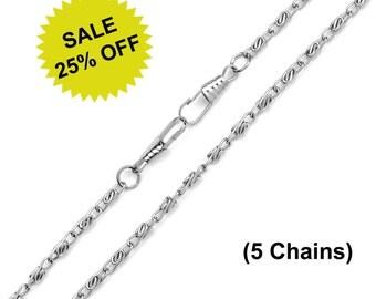 """5pcs - 24"""" (60cm) Nickel Purse Chain - Free Shipping (CHAIN CHN-100)"""