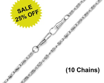 "10pcs - 48"" (120cm) Nickel Purse Chain - Free Shipping (CHAIN CHN-104)"