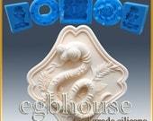 2D Silicone Soap/sugar/fondant/chocolate Mold - Oriental Zodiac Sign - Snake  -Freeshipping