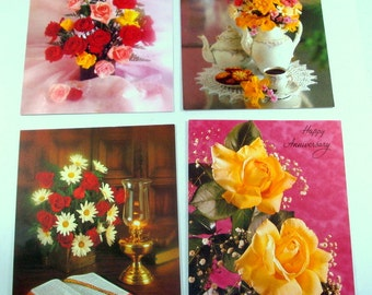 Assortment Vintage Greeting Cards, Happy Anniversary, Congratulations, Thinking of You, Hello, Religious  (132-13)