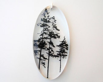 Oval Forest Pendant (Chain Sold Separately)