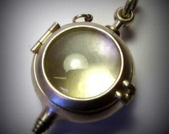 locket steampunk locket sterling silver AMPHOROID large
