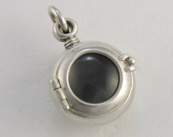 steampunk jewelry PORTHOLE LOCKET large sterling silver