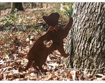 Cat Metal Garden Stake - Metal Yard Art - Metal Garden Art - Pet Memorial - Design 3