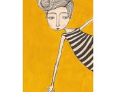 girl in stripes (4x6 print)