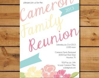 Family Reunion Invitations - Bright Summer Ribbons