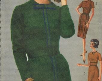 1960s Advance 3046 UNCUT Vintage Sewing Pattern Misses Slim Dress, Sheath Size 14 Bust 34
