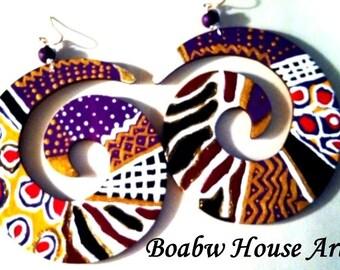 African Spiral Earrings
