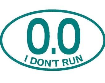 I don't run car decal