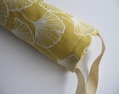Ginkgo Leaf Print, Reusable Grocery Bag Holder, Plastic Bag Recycling Pouch