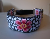 Guinea Flower House/Martingale/Side Release Buckle Collar - IG/Whippet/Lurcher/Greyhound/Other Breed