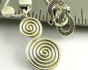 Spirals 16 Inch Sterling Necklace