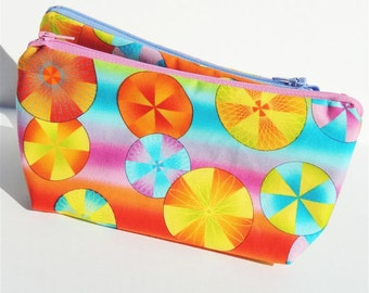 Bright Circles Zippered Pouch