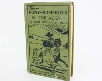 The Pony Rider Boys: In The Alkali by Frank Gee Patchin - Vintage Book c. 1934
