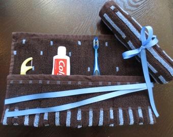 Travel Toothbrush Holder - Blue Stripe