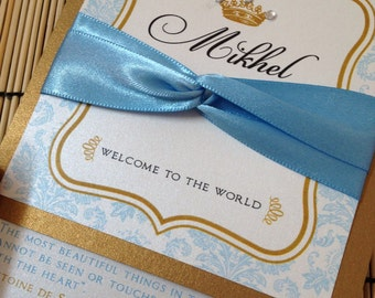 Prince baby shower invitations announcement