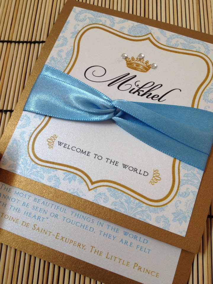prince baby shower invitations deposit by anaderoux on etsy
