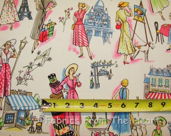 Springtime in Paris Ladies Shop Michael Miller Cotton Fabric