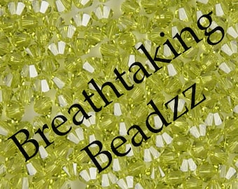 CLEARANCE Swarovski Beads Bicone 24 Light Olivine 6mm Crystal Bead Bicone 5328 Many Colors In Stock,os