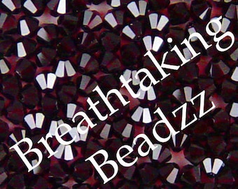 Swarovski Crystal Beads 50 Garnet 4mm Bicone 5328 Many Colors In Stock