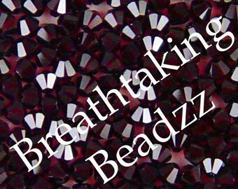 CLEARANCE Swarovski Crystal Beads 50 Garnet 4mm Bicone 5328 Many Colors In Stock,os