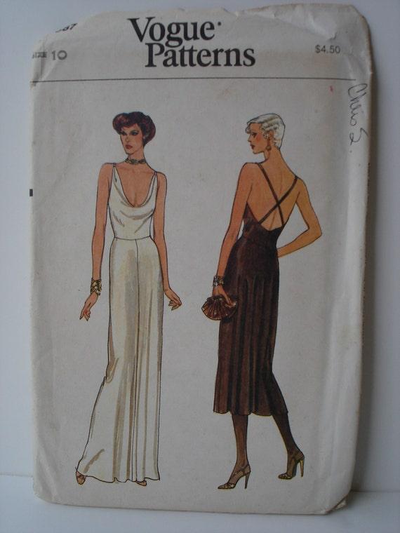 Vintage Vogue Pattern 7387 Misses Dress 1970s