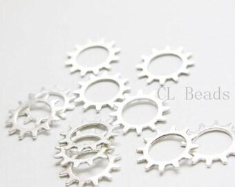 30pcs Oxidized Silver Tone Base Metal Gears - 21mm (17551Y-B-427A)