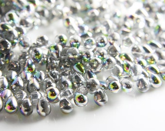 50pcs Czech Glass Tear Drops-Vitral Crystal 8x6mm (86V0003) (B-6-23)