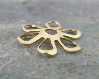New - Flower Layering Piece or Bead Cap Brass Jewelry Findings 1389 - 18 Pieces