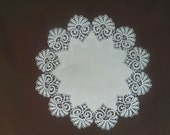 """Fancy Lace -- 18""""  Doily Small  -- Antique White (Winter White) 100% polyester"""