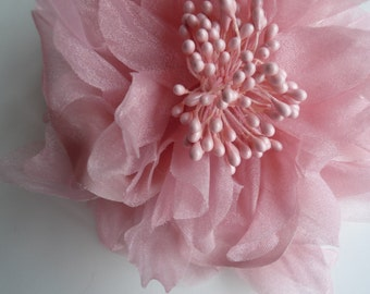 SILK PEONY FLOWER , Antique Rustic  Pink / 644