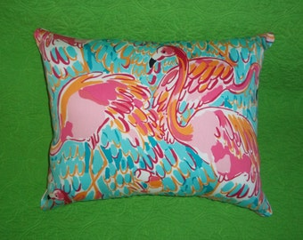 New Pillow made with Lilly Pulitzer Peel and Eat fabric