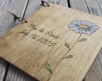 Custom Wedding Guest Book - Daisy